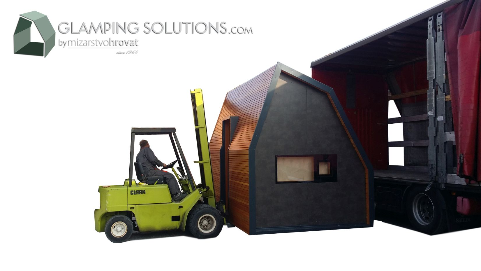 Why should be all the glamping houses completely built in the workshop?